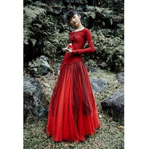 Marc Le Bihan Silk and Polyester Long Sleeve Dress